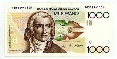 Belgium ... P-144 ... 1000 Francs ... ND(1980-96) ... *VF*