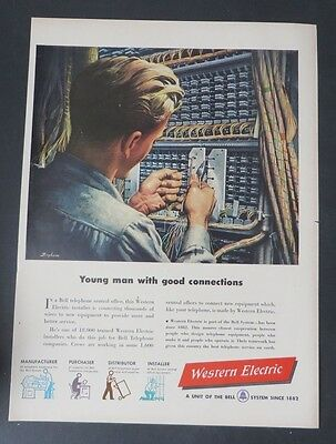 Original Print Ad 1949 Western Electric Bell System Telephone Switch Board