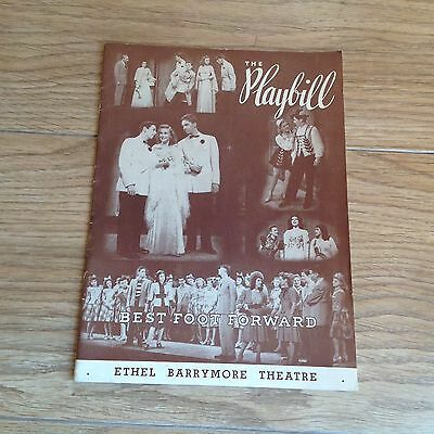 Ethel Barrymore Theatre Best Foot Forward1940's.The Play Bill NO RESERVE