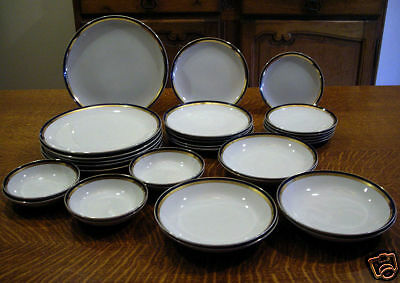 """Harmony House Fine China Marquis 3689 Pattern 4 Coupe Soup Bowls 7 5/8"""""""