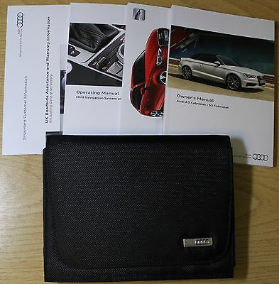 Audi A3 S3 Cabriolet Handbook Owners Manual Wallet 2014-2015 Pack 3384
