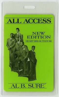 New Edition authentic 1988 concert tour Laminated Backstage Pass