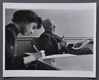 Homer Page 1918-1985 Silver Gelatin Photo 25x20cm Executive dictating letter B&W