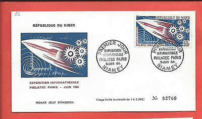Niger stamps. 1964 International Exposition Space FDC (Y338)