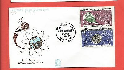 Niger stamps. 1964 Space Telecommunications FDC (Y337)