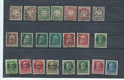 Bavaria Germany stamps. Small used lot  - see description (V796)