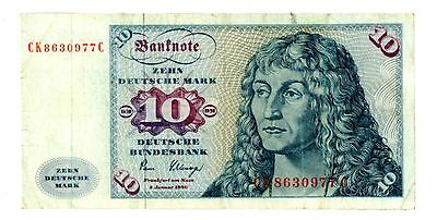 Germany Federal Republic ... P-31d ... 10 Deutsche Mark ... 1980 ... *F-VF*