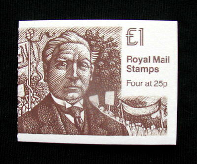 Great Britain Unexploded Complete Postage Stamp Booklet 1 £ ASQUITH