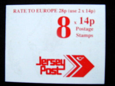 Great Britain Unexploded Complete Postage Stamp Booklet 8 Jersey 14 p