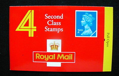 Great Britain Unexploded Complete Postage Stamp Booklet 4 second class X)