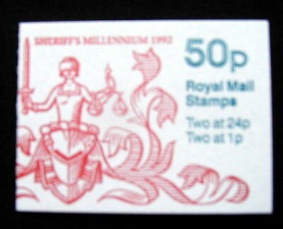 Great Britain Unexploded Complete Postage Stamp Booklet 50 p SHERIFF MILLENIUM
