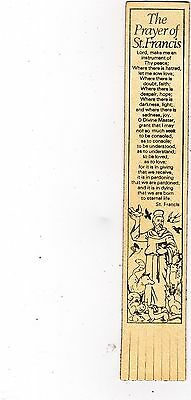 Leather Bookmark : The Prayer Of St Francis.