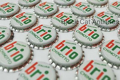 Lot of 100 BRIO ITALIAN CHINOTTO Vintage Unused Soda Crown Crowns Caps NOS Pop