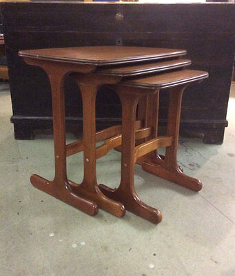 Mid century Teak nest of tables stacking tables