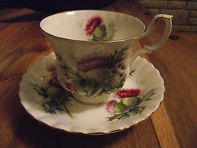 Vintage Royal Albert Highland Thistle Cup & Saucer  1St Quality