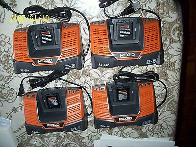 Ridgid R840093 9.6-18V Chargers, Group of 4 (four)