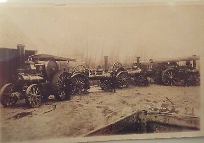 1912 RP b&w postcard of 4 Contractors Traction Engines at Hungerford