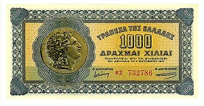 Greece ... P-117b ... 1000 Drachmai ... 1941 ... *Gem UNC*