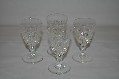 """4 X Crystal Port/sherry Glasses Approx Size: 3"""""""