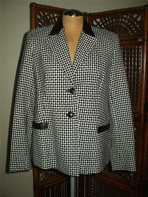 a pea in the pod Wool Long Sleeve Black White Houndstooth Maternity Blazer NWT M
