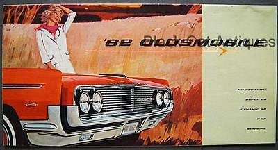 Orig 1962 GM Canada Oldsmobile Fold Out Brochure/Poster 98, 88, F-85 & Starfire