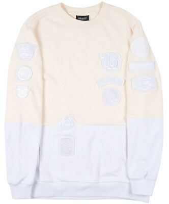 Pink Dolphin Patchwork Sweatshirt Crewneck Pullover Off White Mens