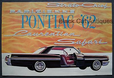 Original 1962 GM Canada Pontiac Parisienne Laurentian Safari Car Dealer Brochure