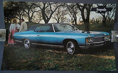 Original 1971 Chevrolet Impala Poster/Sell Sheet/Info Over-sized 17 3/4 X 11