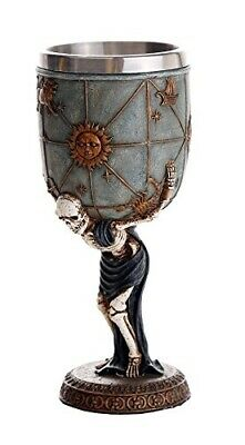 Skeleton Atlas Carrying the Weight of the Universe Skeleton Wine Goblet 7oz Cup