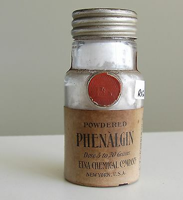 Antique/VTG Drug Store Pharmacy Apothecary Medicine Bottle PHENALGIN RX211