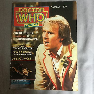 Doctor Who Monthly Magazine 75 Marvel 1983