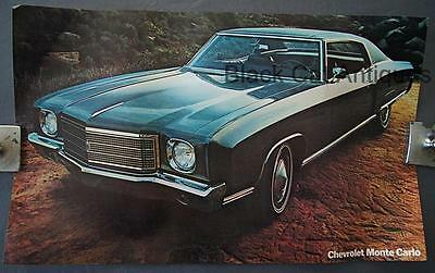 Orig Vintage Chevrolet Monte Carlo Poster/Sell Sheet/Info Over-sized 17 3/4 X 11