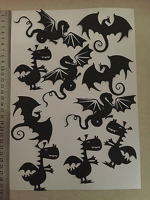Dragon Die Cut Shapes (10Pieces) - Ideal For Fairy Jars