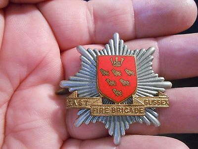 Obsolete Circa 1960 British East Sussex Fire Brigade Metal Cap Badge (3)