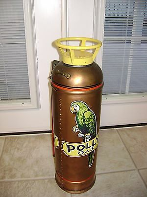 Antique Poly Gas Brass Copper Gas Station Fire Extinguisher/fry-Fyter/