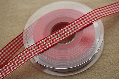 20 Metres Berisfords 15mm Gingham Ribbon Small Check 7391 - VARIOUS COLOURS 20m