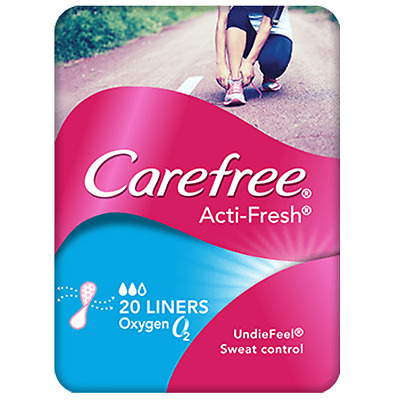Carefree Liners Acti-Fresh Oxygen X 20