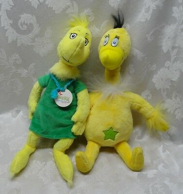 Dr Seuss Pair the Sneetches Animal Yellow Bird Kohls Plush Oh The Thinks You Can