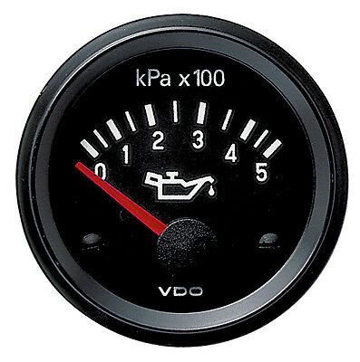 VDO 12V Electrical Engine Oil Pressure Gauge 0-500Kpa and Sender 350030016