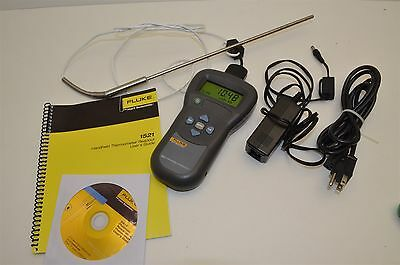 Fluke Hart Scientific 1521 Thermometer readout meter with probe case & Warranty
