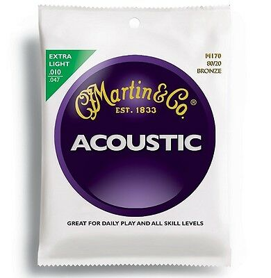 Martin 80/20 Bronze Acoustic Guitar Strings (Various Gauges Available)
