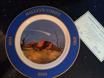 "Halley's Comet  ""Over the Olgas"""