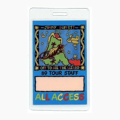 Jimmy Buffett authentic 1989 concert tour Laminated Backstage Pass