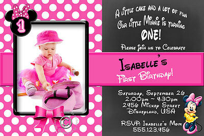 Minnie Mouse Personalised Birthday Party Invitation - DIY Print and SAVE!!!