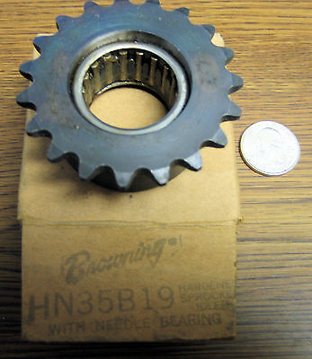 "Browning HN35B19 Idler Sprocket, 1"" Bore, 35 Chain Size, 19 Teeth"