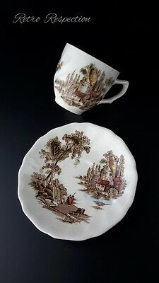 VINTAGE Johnson Bros Old Mill Demitasse Cup and Saucer