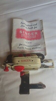 Singer Buttonhole Attachment no 86718 boxed with instruction booklet