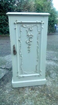 *Clearance* Cream wooden bedside cabinet with decorative moulding