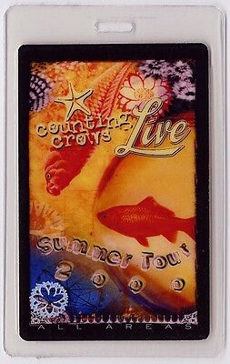 Counting Crows authentic 2000 concert tour Laminated Backstage Pass
