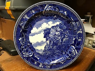 """Vintage New Hampshire Wedgwood Plate Old Man Of The Mountain """"Gorgeous"""""""